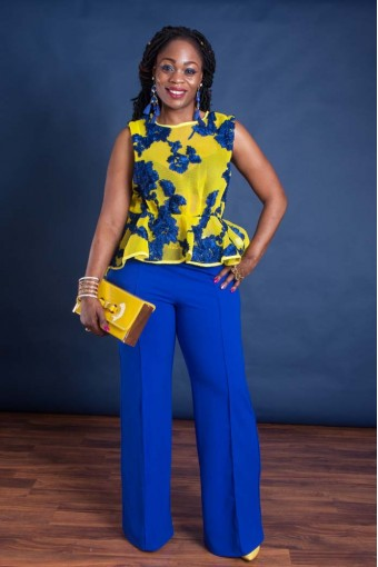 Yellow & Blue Women's Outfit