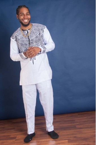 Men's White Traditional Outfit